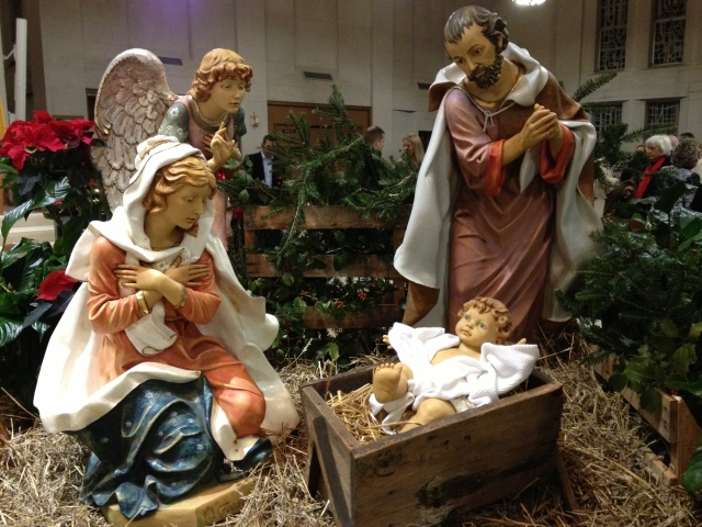The Nativity Scene at the Cathedral of Christ the King in Lexington, Ky.