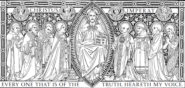 Line art for the Feast of Christ the King from the Campion Missal, courtesy of ccwatershed.org